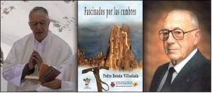El sacerdote y autor Pedro Estaún, la portada del libro y Daniel Esteve Poveda.